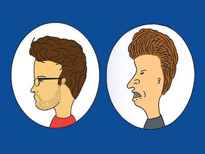Kody & Butthead beavis and butthead self portrait illustration cartoon