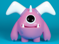 Little Baby D ab toon toy cartoon character redshift3d cinema 4d model 3d cinema4d monster