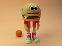 B Boy got game cartoon ab abrahambarrera toy cinema 4d model toon character 3d cinema4d burger