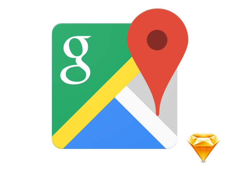 Google Maps — Sketch Icon (Freebie) By Arnaud Le Roux