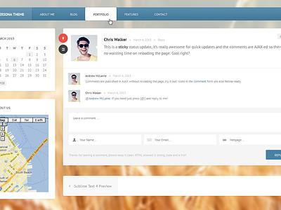 Status Update & Comments wordpress status comments web ui