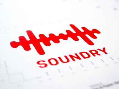 Soundry Combination Mark nudista red brand logo soundry