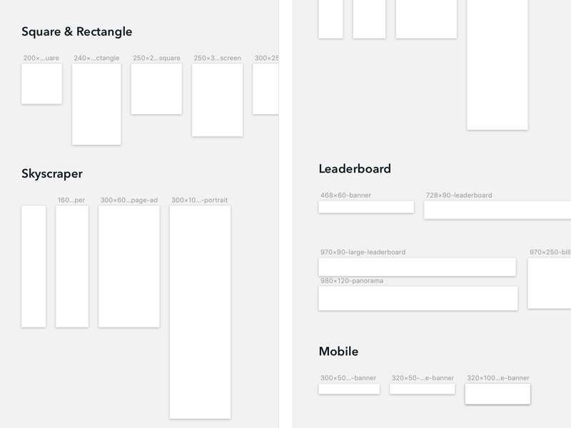 Google Ads Template for Sketch by Dan Halliday - Dribbble