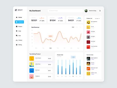Sales Dashboard Design sales dashboard management chart sales analytics uiux sales admin analytics data dashboard design clean ux web ui website