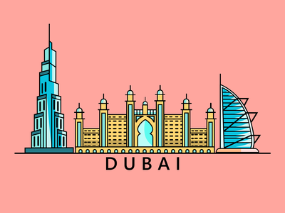 Dubai app ux ui minimal graphicdesign illustration graphic design logo icon art