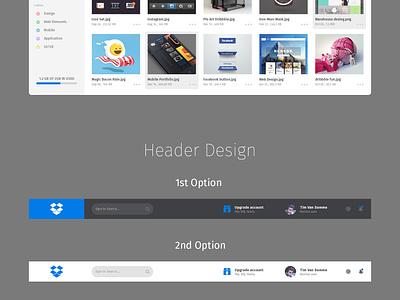 Redesign Dropbox Dashboard icon ux ui dashboard psd flat dropbox