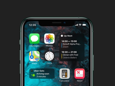 Home Screen Widgets ubereats native app third party apps apps ux ui widgets home screen ios14 concept