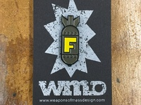 F-bomb enamel pin