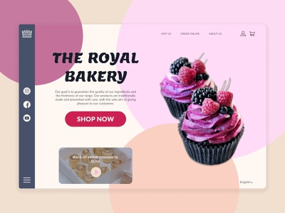 The Royal Bakery cake bakery webdesign website branding logo ux ui design