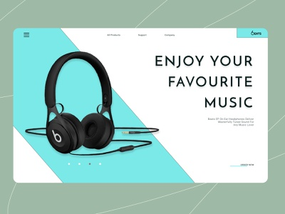 Beats Headphones beats headphones logo website webdesign ux ui design