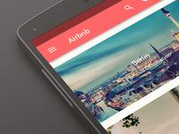 Airbnb Concept Material Design