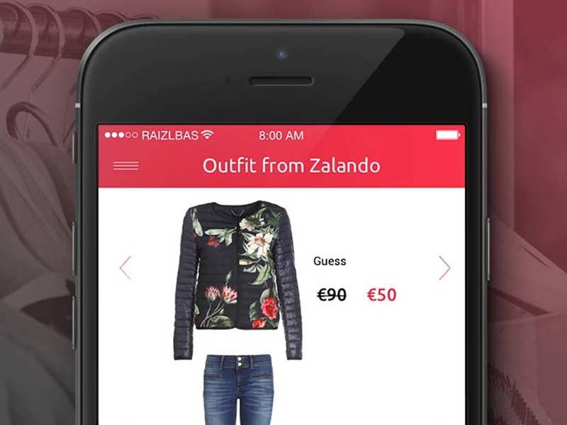 Landing page for Modescope edoardo birbini app design ui ux fashion modescope.