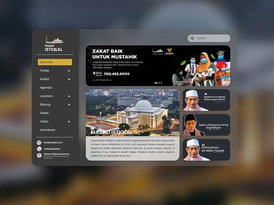 [REDESIGN] ~ Mosque Istiqlal indonesia designer redesign design branding website design website web design webdesign web ux ui mosque