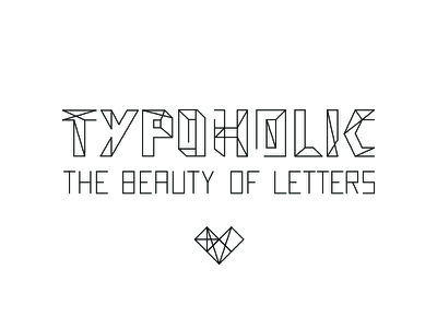 Typoholic word vector typography typo typeface type lettering letter fontlab font