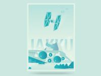 Jakku Star Wars Poster