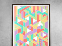 Abstract - isometric - pastel
