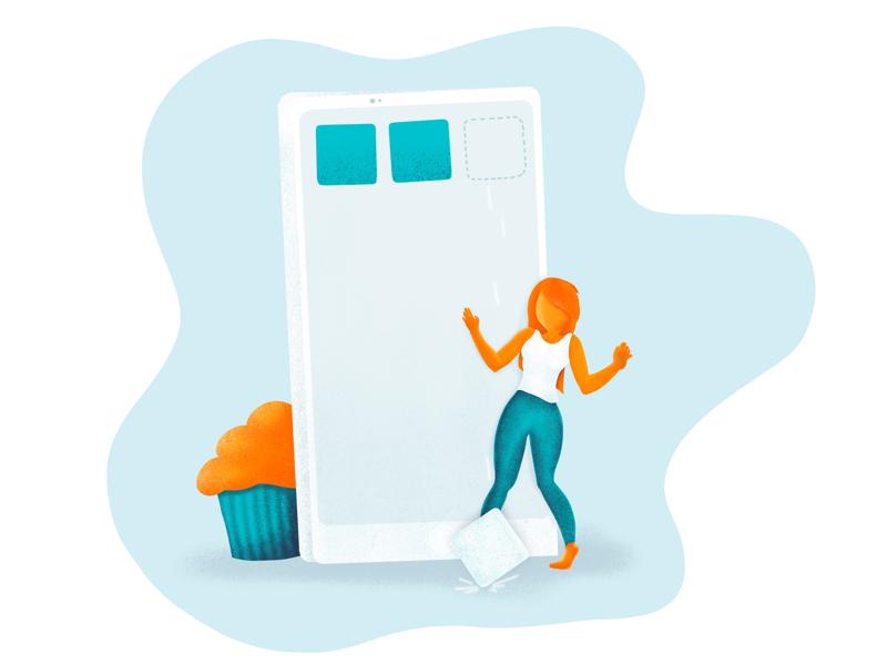 Uups iphone illustration ui ux