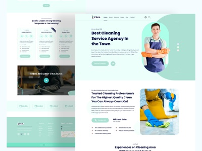 Cleaning Services Template animation graphic design vector logo cleaning template cleaning services template business landing page design illustration landing page web ux design branding ui app