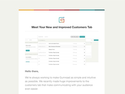 Gumroad Customer Email gumroad customers redesign