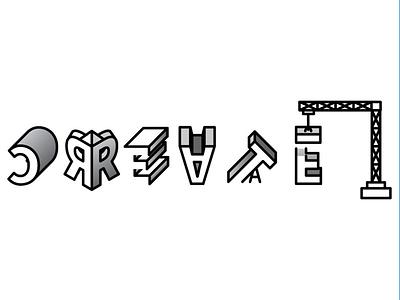 Create experimental type slim white black branding typography type