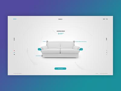 Minimalistic Shop UI