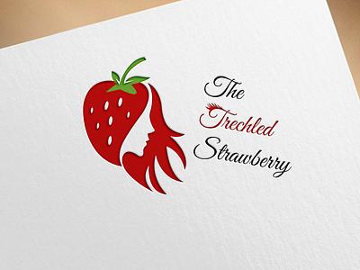 THE TRECHLED STRAWBERRY graphic design vector minimal illustrator illustration icon flat branding design logo