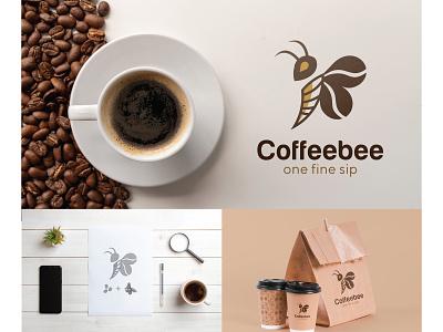 Coffee bee logo graphics logosketch logo design new logos logo