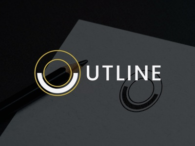 Outline  logo design new creative simple logos logo