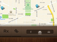 DoubleTree iPad App - Map Screen Partial View - Bottom