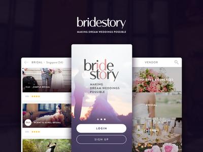 Bridestory Mini Exploration mobile app mobile weddings company profile app landing page
