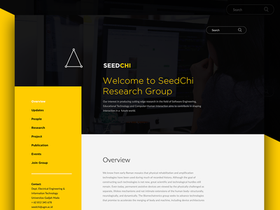Research Group - Landing Page