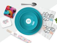 Péngzû Asian Cuisine Restaurant Branding