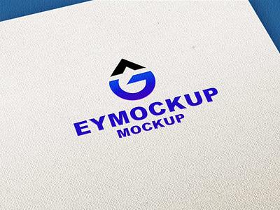 Paper Logo Mockup icon business ui scale vector logo branding ux design mockup
