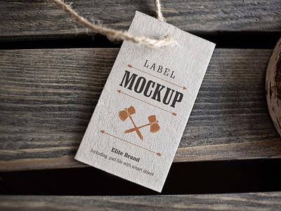 Elite Tag Mockup scale ux branding vector logo web ui typography packaging mockup