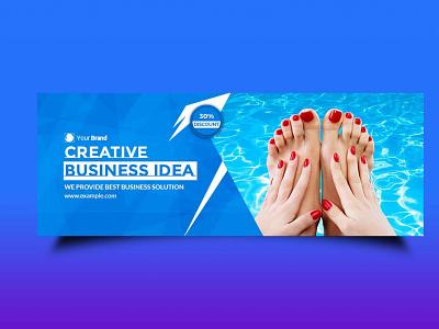 Swimming Facebook Page Design ui scale packaging vector logo branding ux illustration design mockup