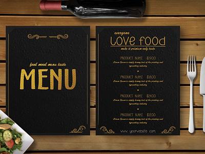 Premium Gold Effect Menu Template web business branding designing effect psd choco menu menu template templates template menu choco psd effect gold premium graphic design