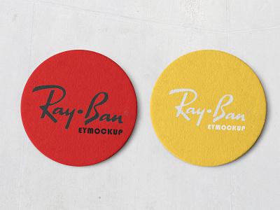 Coaster Collection Mokeup ray ban branding psd design collection mokeup coaster