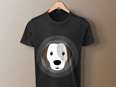 Dog Printed T shirt Mockup printed t shirt graphic design art doggy design t shirt clothing dog print mockup