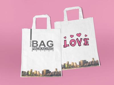 Nylon Bag Mockup typography vector ui ux packaging logo illustration branding design mockup clean best latest premium free nylon bag