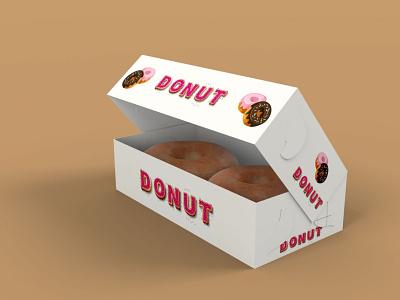 Dunkin Donut Box Mockup icon ui typography vector logo ux illustration branding design premium latest best free clean mockup snacks food donut sweet dunkin