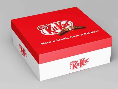 Gift Box Design Mockup new best free ux icon typography ui vector logo illustration branding design mockup chocolate kitkat package box