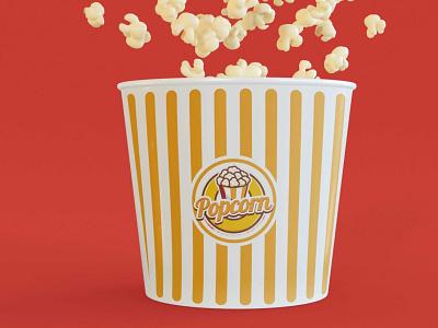 Bumble Cinema Popcorn Mockup clean new free app typography ui vector ux logo illustration branding design mockup cinema bubble popcorn
