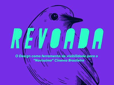 REVOADA typography cinema brazil branding logo illustration design