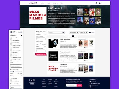 PLATAFORMA REVOADA web ux ui design cinema brazil