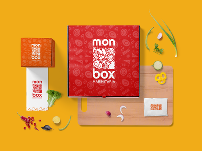 Identidade Visual: Monbox Marmitaria food marmitaria restaurant logo branding design brazil