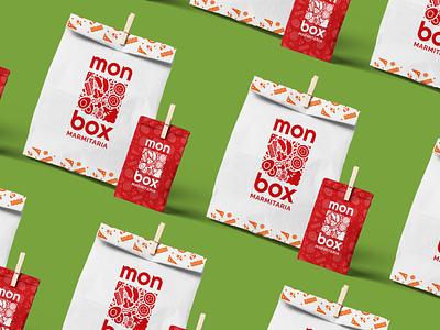 Identidade Visual: Monbox Marmitaria marmitaria restaurant food logo branding design brazil