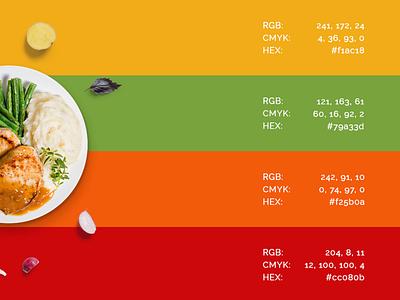 Restaurant: Color Palette color palette restaurant food design brazil