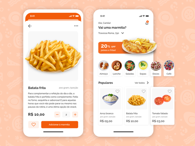 Monbox Marmitaria: Food Delivery App delivery app ux ui marmitaria restaurant food design brazil