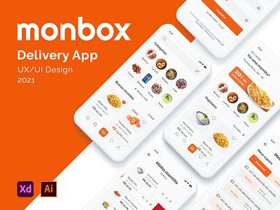Monbox Delivery App delivery app ux ui marmitaria restaurant food design brazil