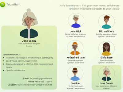 User Profile illustration learner figma dailyui ux ui design